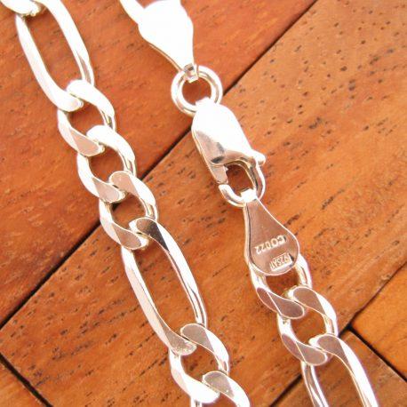 Collar Cadena 3+1 Eslabones de Plata de Ley 925ml