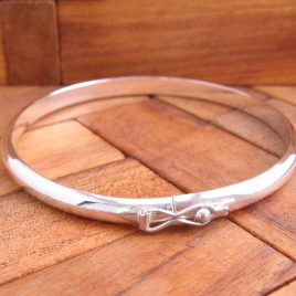 Pulsera Media Caña Lisa 4 mm Plata de 1ª Ley 925 ml