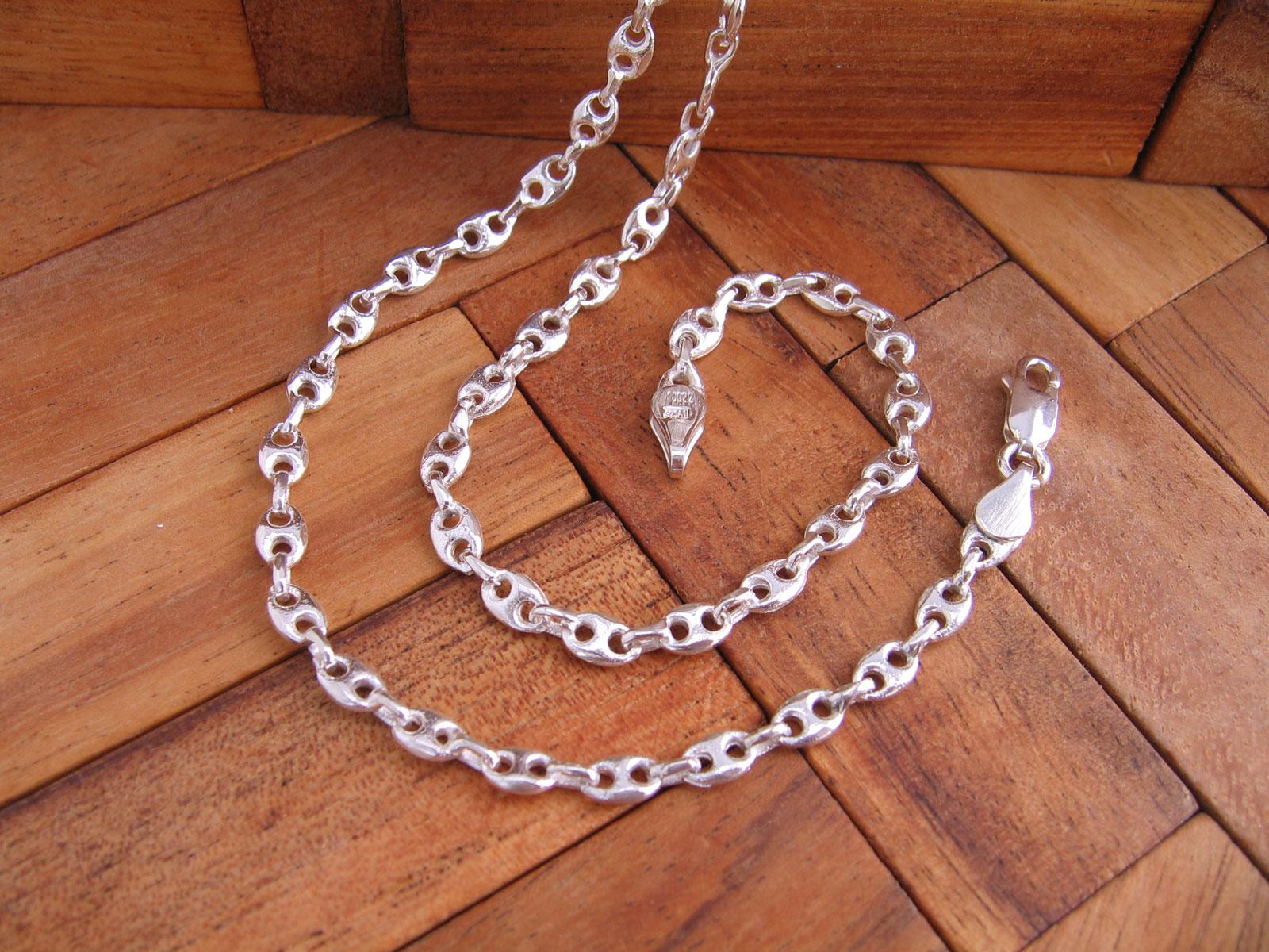 17fbc1d06d5b Collar Cadena Calabrote grueso 50 cm en Plata de Ley 925 ml