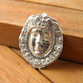 Colgante Cara Virgen del Rocio de Plata de 1ª Ley 925 ml
