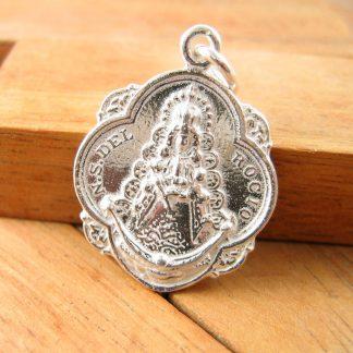 Medalla Pandereta Virgen del Rocio de Plata