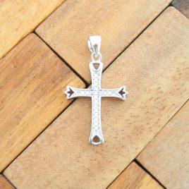 Colgante Cruz Circonitas de Plata de Ley 925ml