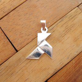 Colgante Pajarita Grande de Plata de Ley 925 ml (origami)