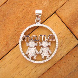 Colgante Mama Niñas Circonitas