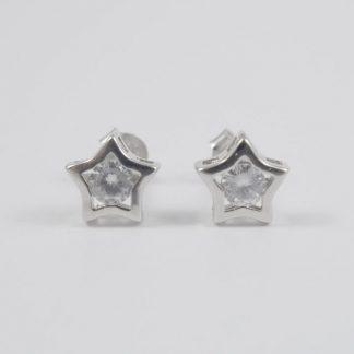 Pendientes Estrellas Circonitas Plata