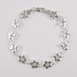 Pulsera Estrellas Plata Ley 925ml