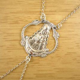 Pulsera Pasamanos Medalla Virgen del Rocio