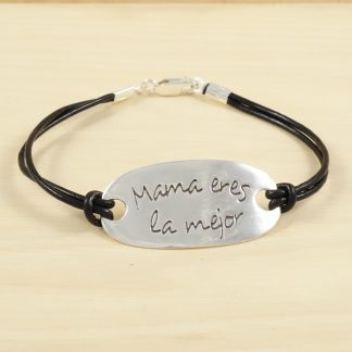 pulsera-mama-eres-la-mejor-plata-cuero-4