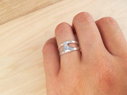 anillo-pajarita-origami-plata