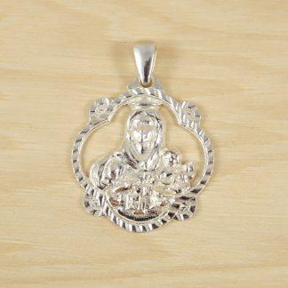 Colgante Medalla Pandereta Calada Virgen del Carmen